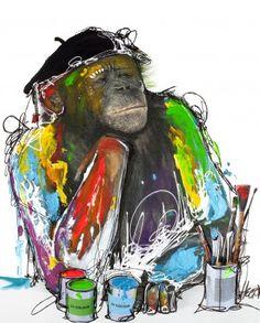 Monkey art - Malerifabrikken