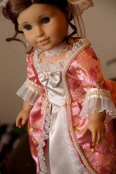 ✿⊱╮Grand Ball Gown by Dollhouse Designs for American Girl Doll Felicity & Elizabeth