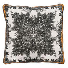Sabina Savage Rose And Sloe Cushion Cotton Bedding, Linen Bedding, Duvet, Goose Down Pillows, Soft Furnishings, Contemporary Furniture, Luxury Bedding, Savage, Cool Designs