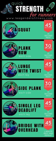 Quick Strength for Runners — Lea Genders Fitness Welcome to another edition of Workout Wednesday! Each week I share a new strength training or running workout. This week I put together a quick circuit that inc Fitness Workouts, Fitness Motivation, Lower Ab Workouts, Running Workouts, Running Training, Runners Motivation, Running Form, Running Plan, Running Race