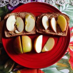 #Apple #Almond #Sandwich #AnAppleADayKeepsTheDoctorAway #AlmondButter #OpenFaceSandwich from #BackIntoGroove #ThirstyThursday #ThursdayTips #WhatIAteWednesday after #YOLO on #PrettyFitWay via #PrettyFit