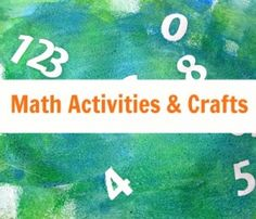 Math Activities - No Time For Flash Cards