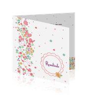 Geboortekaartje met bloemetjes voor een meisje - Little Fairytales:http://kaartjesparadijs.nl/winkel/geboortekaartje-met-bloemetjes-voor-een-meisje-little-fairytales/