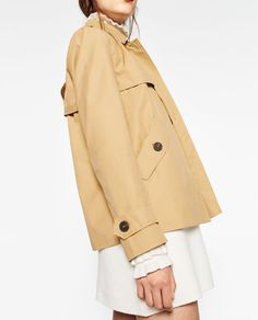 Image 6 of SHORT TRENCH COAT from Zara