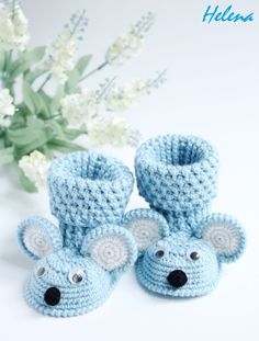 Baby booties, Booties Mouse,Crochet shoes,Crochet booties,Crochet booties for girl and boy by MagicCrochetByHelena on Etsy https://www.etsy.com/listing/205375258/baby-booties-booties-mousecrochet