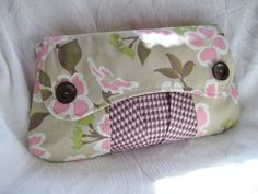 Casablanca Clutch Bag in Pink and Brown by Nataty on Etsy, $35.00