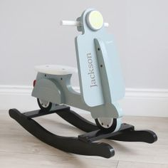 Personalised Rocking Scooter Toy - Blue