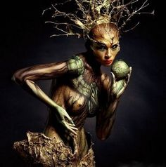 Arboreal Body Paint: Models Disguised as Trees                                                                                                                                                                                 More