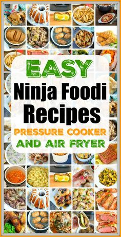 Easy Ninja Foodi Recipes you can make in your new pressure cooker and air fryer machine! Looking for breakfast or dinner ideas we have you covered. Grilling Recipes, Crockpot Recipes, Chicken Recipes, Cooking Recipes, Healthy Recipes, Cooking Tips, Easy Recipes, Food Tips, Keto Recipes