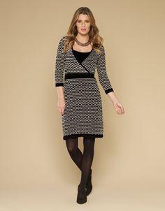 Sadie Stripe Wrap Dress by Monsoon