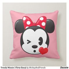 Love You Disney D3 Cushion Pillow Cover Disneyland Minnie Mouse Mickey Mouse Handmade Case Luxury Stylish