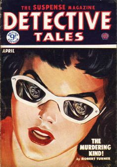 'Detective Tales' pulp magazine December 1952, Norman Saunders. ~Repinned Via Adam Cadwell