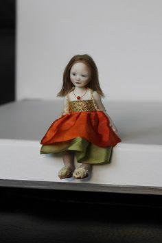 Porcelain Girl BJD 1/12 dollhouse by N.Yaskova by NatashaYaskova