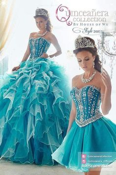 - Style Available in Pink, Teal. Sweet 15 Dresses, Pretty Dresses, Ball Gown Dresses, Evening Dresses, Gown Skirt, Pretty Quinceanera Dresses, Quince Dresses, Birthday Dresses, Beautiful Gowns