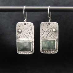 Peanut Wood and Sterling Silver Earrings. This stone is referred to as the 'Stone of the Earth'. It is another very grounding stone. Sterling Silver Diamond Rings, Sterling Silver Pendants, Silver Rings, Sterling Jewelry, 925 Silver, Modern Jewelry, Metal Jewelry, Antique Jewelry, Silver Necklaces