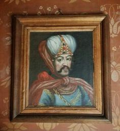 Habillé à la turc, il surveille les visiteurs ... dans quelle pièce du château du Moulin .?