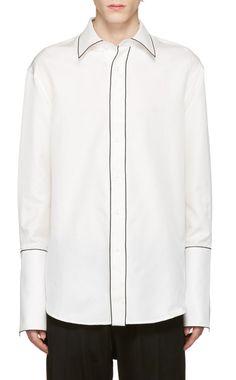 Wooyoungmi - White Piping Shirt b8d4eb8c877