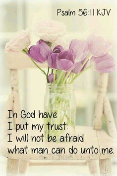 In God I put my trust I will not be afraid Psalm 56:11 KJV Be determined, decisive, and directed. For fear will come no doubt, the enemy seeks to kill and destroy. But you don't have to succumb to it. You can decide to be determined in the direction of your trust! Put your trust in God! www.deeperstillministries.com