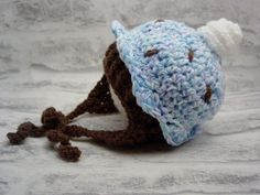 cupcake hat, baby hat, baby boy, baby beanie, newborn hat, Photo prop, baby gift, easter, baby shower, newborn crochet, easter gift by LouLouLoopy on Etsy