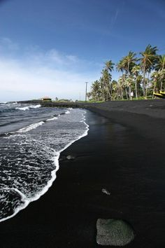 Punalu'u Black Sand Beach Big Island Hawaii