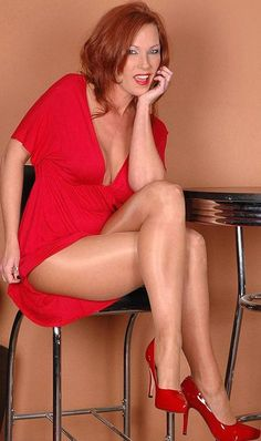 Attractive milf in red