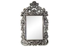 Silver  Floral Mirror on OneKingsLane.com...$199.00