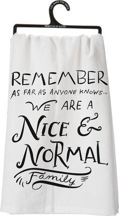 Dish Towel - Nice & Normal Family - Daisy Trading