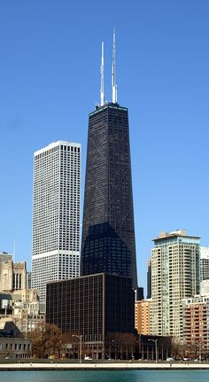 John Hancock Center - Chicago, Illinois (343.7m/1128ft) (SOM) (Bruce Graham)