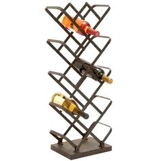 Industrial-style metal wine rack. Holds fourteen bottles.    Product: Wine rackConstruction Material: Metal...
