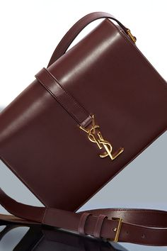 Be bold in #bordeaux with #bags by #YSL.