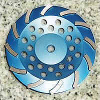 Cyclone Cup Wheel for Stone