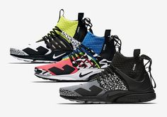 All three upcoming Nike Presto Mid designs have been revealed. For a closer look, tap the link in our bio. Presto Sneakers, Sneakers Mode, Custom Sneakers, Sneakers Fashion, Nike Presto, Nike Air, Sneaker Release, Nike Shoes Outlet, Sneaker Brands
