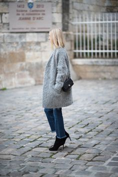 Grey mohair coat
