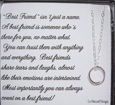 BEST FRIENDS necklace Best Friend Jewelry by SoBlessedDesigns, $39.00