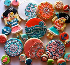 Pirate cookies by HayleyCakes and Cookies...holy moley. this are amazinggggg