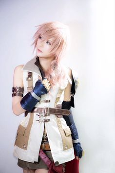 final fantasy (lightning) cosplay.