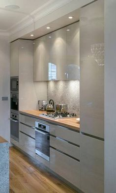 sleek cupboards