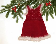 Christmas dress for baby 06month by iziknittings on Etsy, $31.00