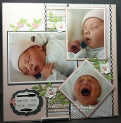 Sweet Baby's Birth Scrapbooking Layout…Christine Pyrch, Jan. 2013 – Your Stamping Teacher. Baby Boy Scrapbook, Scrapbook Bebe, Bridal Shower Scrapbook, Paper Bag Scrapbook, Baby Scrapbook Pages, Birthday Scrapbook, Wedding Scrapbook, Scrapbook Designs, Scrapbook Sketches