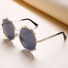 3a2aac010fc Fashion Tide Woman Hollow Double Ring Anti-UV Sunglasses Leisure Vintage HD Glasses  Eyewear is hot sale at NewChic