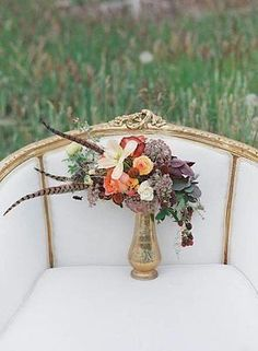 Antique gold and silver vases can add such warmth and charm to your decor. The surprising elements of texture, shape, and patterns can really compliment your floral arrangements.