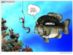 """Free Stuff!"".............Political Cartoons by Michael Ramirez"