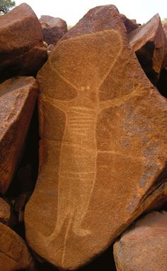 Barrup Rock Art. Western Australia