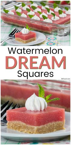 This no-bake watermelon dessert is such a dream!