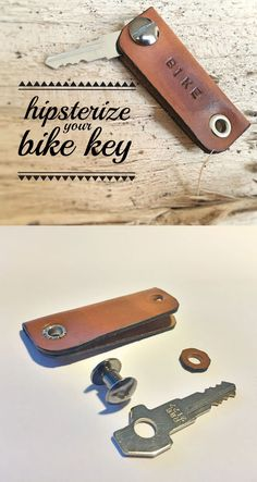 Bike lock keys are super ugly. Make yours look legit by giving it a leather cover! The best part: it only takes 5 minutes to make.