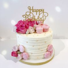 Happy Birthday Beautiful Cake for Birthday Ideas - Birthday Ideas Make it Happy Birthday Torte, Birthday Cake 30, Creative Birthday Cakes, Beautiful Birthday Cakes, Beautiful Cakes, Birthday Ideas, 18th Birthday Cakes Girl, Birthday Decorations, 60th Birthday Cake For Mom