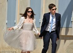 Keira Knightley wedding dress #casual #classy #flirty (love the pink flats but I don't think they are in this picture)