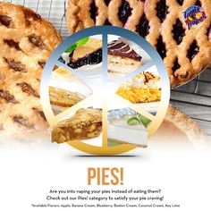 Check out our Pies! category to satisfy your pie craving! #tastyvapor #vape #vaping #ejuice