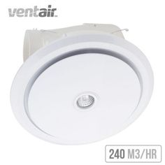 Ventair Larivee 250 Exhaust Fan with Light White