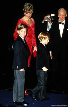 Princess Diana and Sons William and Harry  ©1991